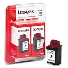 Original Lexmark 15M1330 #70 Black Ink Cartridge 2 Pack