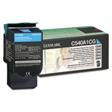 Original Lexmark C540A1CG Cyan Return Program Toner Cartridge