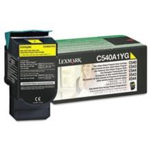 Original Lexmark C540A1YG Yellow Return Program Toner Cartridge