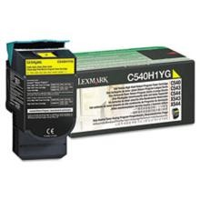 Original Lexmark C540H1YG High Yield Yellow Return Program Toner Cartridge