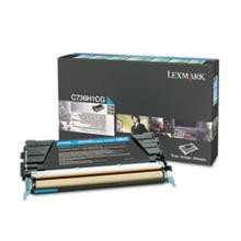 Original Lexmark C736H1CG High Yield Cyan Return Program Toner Cartridge