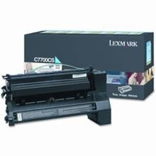 Original Lexmark C7700CS Cyan Return Program Print Cartridge