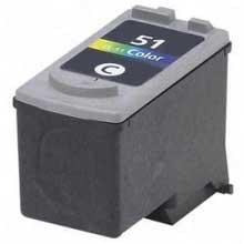 Remanufactured Canon CL-51 High Capacity Color Ink Cartridge