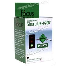Remanufactured Sharp UX-C70B FO-C60B Black Ink Cartridge