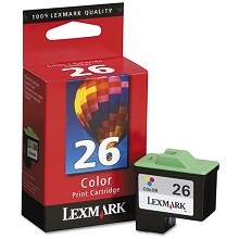 Original Lexmark 10N0026 #26 Color Ink Cartridge