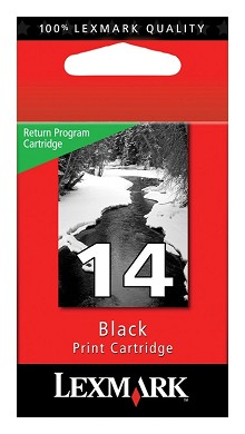 Original Lexmark 18C2090 #14 Black Return Program Ink Cartridge