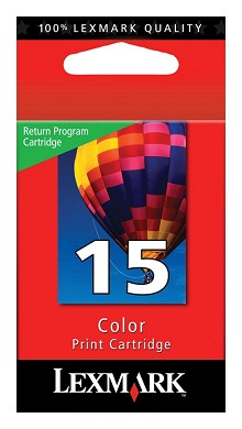 Original Lexmark 18C2110 #15 Color Return Program Ink Cartridge