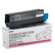 Original Okidata 42127402 High Yield Magenta Toner Cartridge