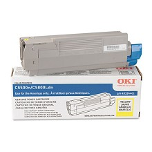 Original Okidata 43324401 High Yield Yellow Toner Cartridge