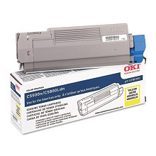 Original Okidata 43381901 Yellow Toner Cartridge