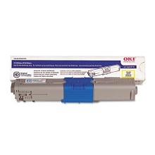 Original Okidata 44469701 (Type C17) Yellow Toner Cartridge