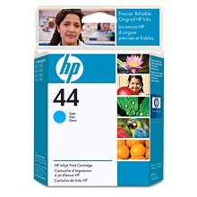 Genuine HP 44 51644C Cyan Ink Cartridge