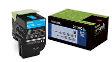Original Lexmark 701HC High Yield Cyan Return Program Toner