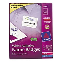 "Avery 5395 2 1/3"" x 3 3/8"" Self-Adhesive Name Badge Labels"