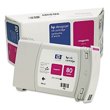 Genuine HP 80 C4847A Magenta 350ml Ink Cartridge