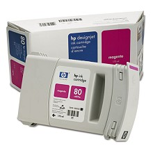 Genuine HP 80 C4874A Magenta 175ml Ink Cartridge