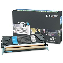Original Lexmark C5200CS Cyan Return Program Print Cartridge