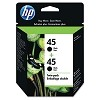 Original HP 45 C6650FN Black 51645A Ink Cartridge 2 Pack