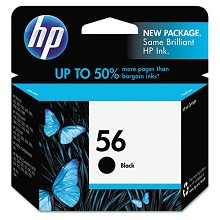 Genuine HP 56 C6656A Black Ink Cartridge