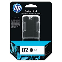 Genuine HP 02 C8721WN Black Ink Cartridge