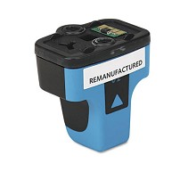 Remanufactured HP 02XL High Capacity Cyan Ink Cartridge