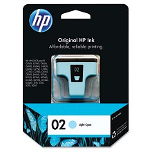 Genuine HP 02 C8774WN Light Cyan Ink Cartridge