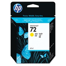 Genuine HP 72 C9400A Yellow Ink Cartridge 69ml
