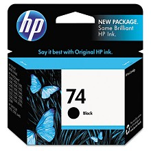 Original HP 74 CB335WN Black Ink Cartridge