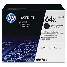 Genuine HP 64X CC364XD Black CC364X Toner Cartridge 2 Pack
