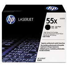 Genuine HP 55X CE255X High-Yield Toner Cartridge