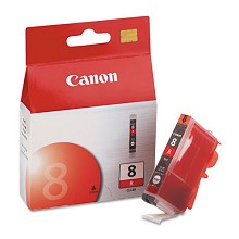 Original Canon CLI-8R Red Ink Cartridge