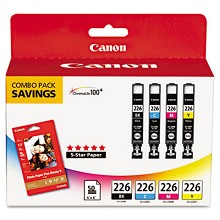 Canon CLI-226 Photo Color Ink Tank Multipack 50 Sheets Photo Paper