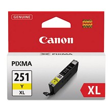 Original Canon CLI-251XLY High Capacity Yellow Ink Cartridge