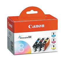 Original Canon CLI-8 Color Ink Cartridge 3 Pack