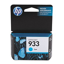 Genuine HP 933 CN058AN Standard Capacity Cyan Ink Cartridge
