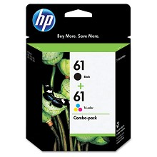 Genuine HP 61 Black and Color Combo Pack