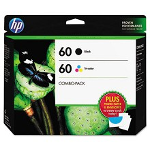 Genuine HP 60 Black / Tri-Color Creative Combo Pack
