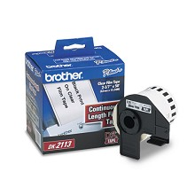 Brother DK2113 2-3/7 in. Black on Clear Continuous Length Film Label