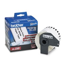Brother DK2205 2-3/7 in. Continuous Length Paper Label