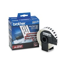 Brother DK2210 1-1/7 in. Continuous Length Paper Label