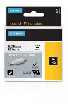 Dymo 18055 RhinoPRO Heat Shrink Tube, 1/2