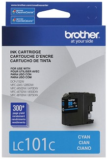 Brother LC101C Standard Yield Cyan Ink Cartridge