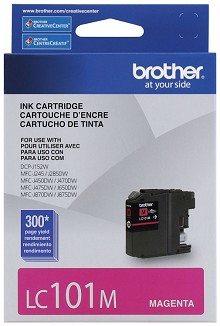 Brother LC101M Standard Yield Magenta Ink Cartridge