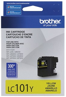 Brother LC101Y Standard Yield Yellow Ink Cartridge