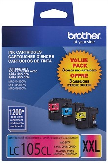 Brother LC1053PKS Super High Yield C/M/Y Ink Pack