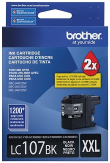 Brother LC107BK Super High Yield Black Ink Cartridge