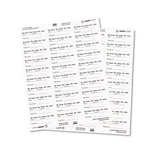 "Maco 1"" x 2 5/8"" White Address Labels (Interchangeable w/ Avery# 5260)"
