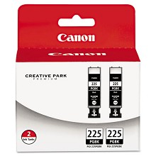 Original Canon PGI-225 Black Ink Cartridge 2 Pack