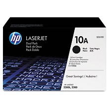 Genuine HP 10A Q2610D Black Q2610A Toner Cartridge 2 Pack