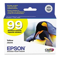 Original Epson 99 T099420 Standard Capacity Yellow Ink Cartridge